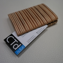 Business card holder, lasercut plywood. Stained with olive oil. Made by CTd-by Edd - 2014