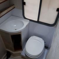 Toiletruimte in aanbouw
