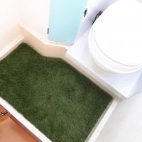 Echt kunstgras in toilet